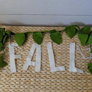 Other - Fall Lettered Banner and Felt Leaves Garla…